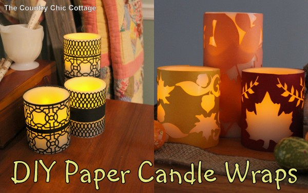 diy paper candle wrap