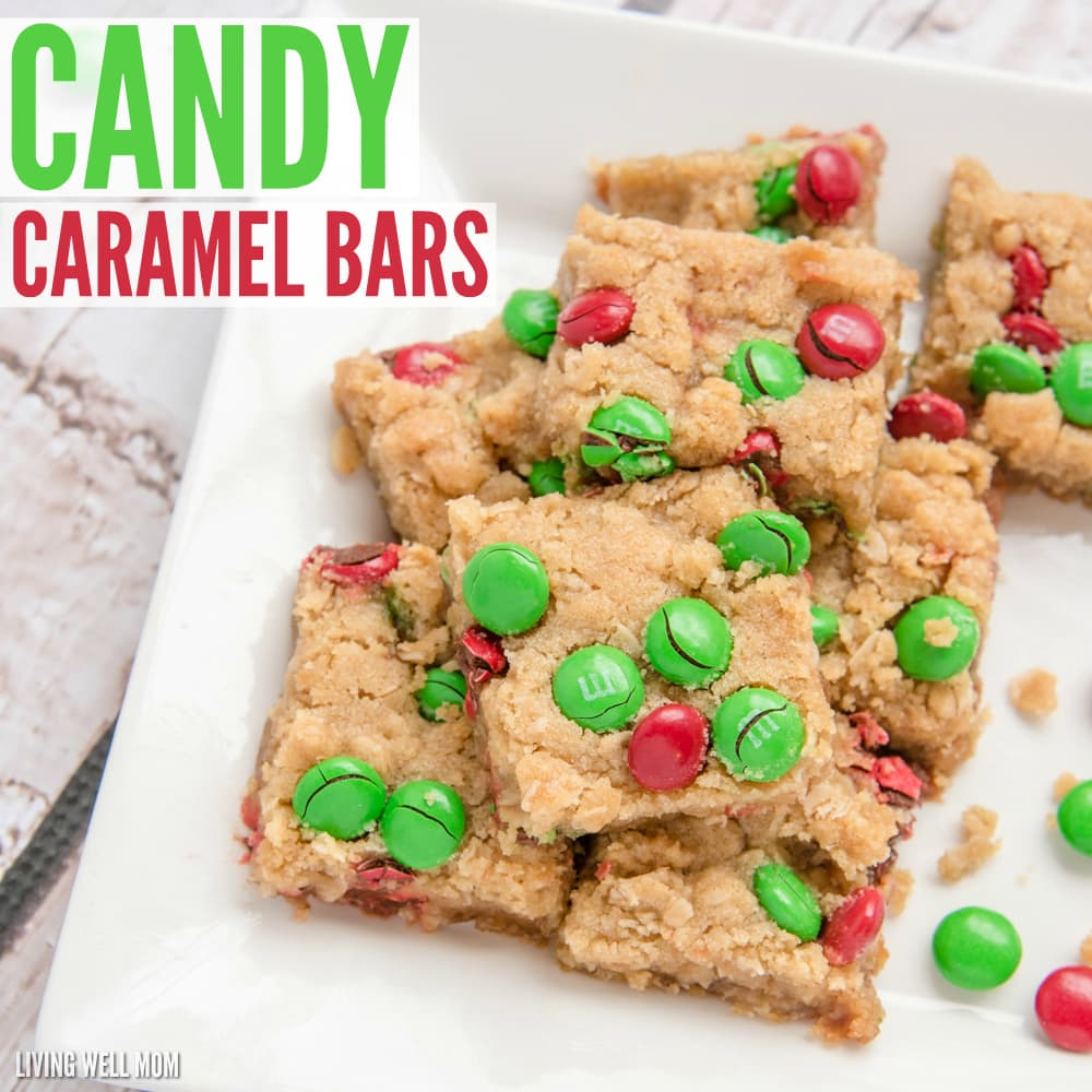 Candy Caramel Bars: With M&Ms and a chewy caramel center, this family-favorite recipe never lasts long on any Christmas cookie plate.