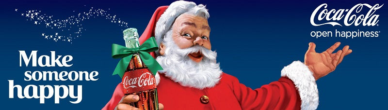 Coca Cola Make Someone Happy Santa