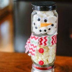 DIY Hot Chocolate Snowman