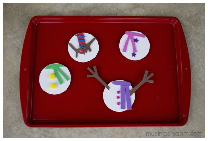 mix and match magnetic snowman craft