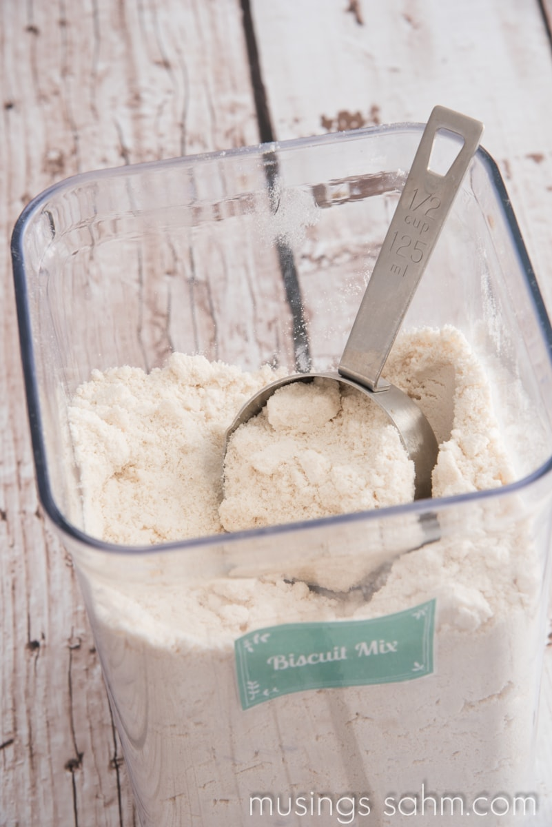 Homemade Baking Mix - with 4 simple ingredients this version is easy to make and far less processed than Bisquick