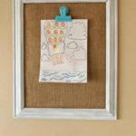 DIY Clip Frame for Kids' Artwork Display