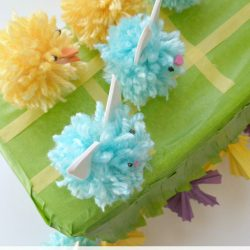 DIY Pom Pom Chicks and Bunnies with Tic Tac Toe Garden