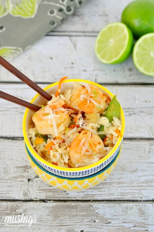 With flavorful spices, snow peas, coconut, jumbo shrimp, and more, Crockpot Thai Shrimp and Rice is not your average slow cooker meal.