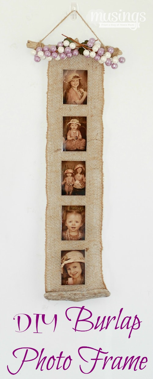 DIY Burlap Photo Frame - Living Well Mom