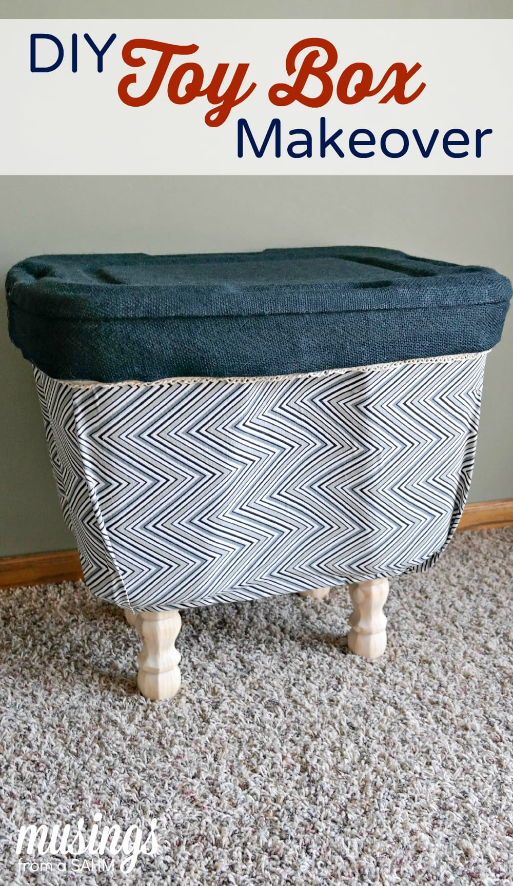 DIY Toy Box Makeover: How to turn an ugly plastic bin into a decorated ...