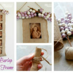 DIY Burlap Photo Frame