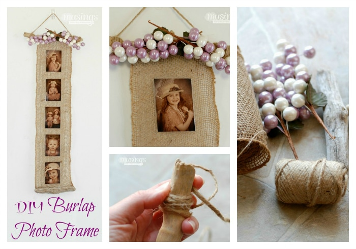 mother's day photo collage idea - DIY Burlap Frame Living Well Mom