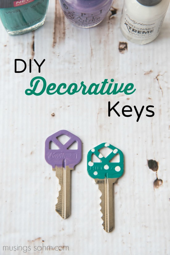 Diy Decorative Keys Musings From A Stay At Home Mom