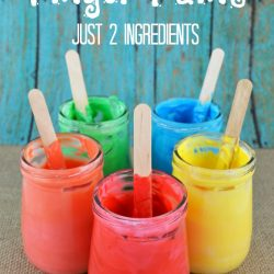 Two Ingredient Edible Finger Paint