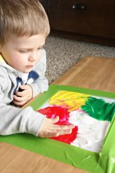 Mess-Free Finger Paint