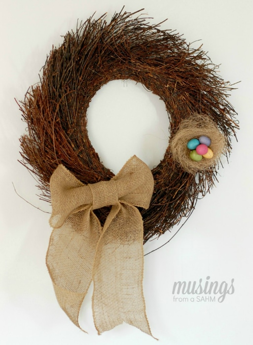 DIY Simple Spring Wreath (make your own wreath) tutorial | spring decor for your front door or any room!
