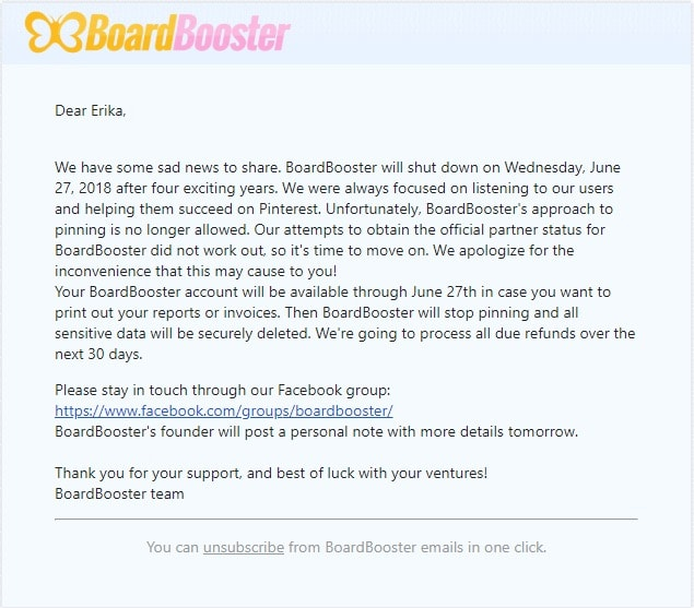 BoardBooster is no longer available