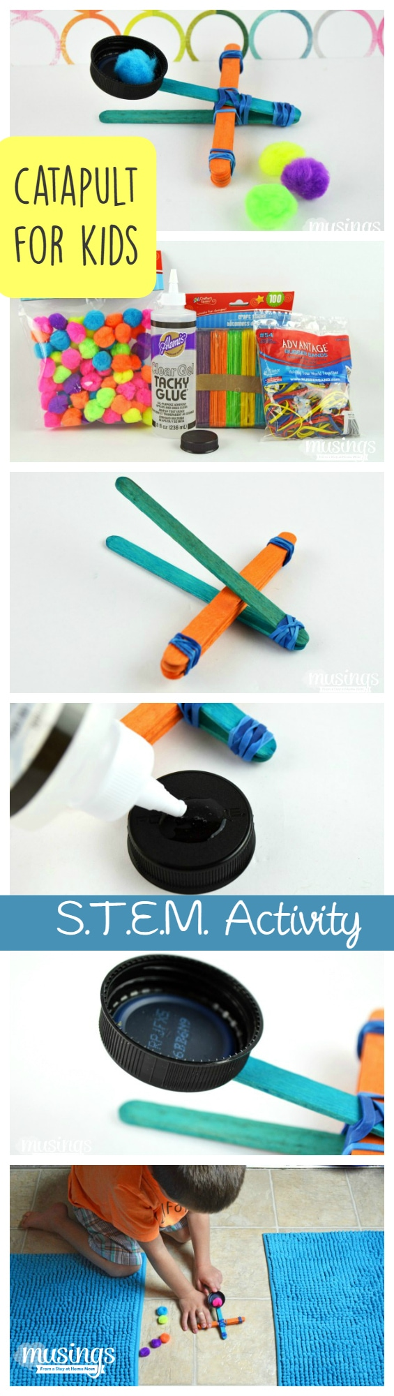 How to Make a Catapult for Kids - this fun STEM Activity will keep them busy for hours!
