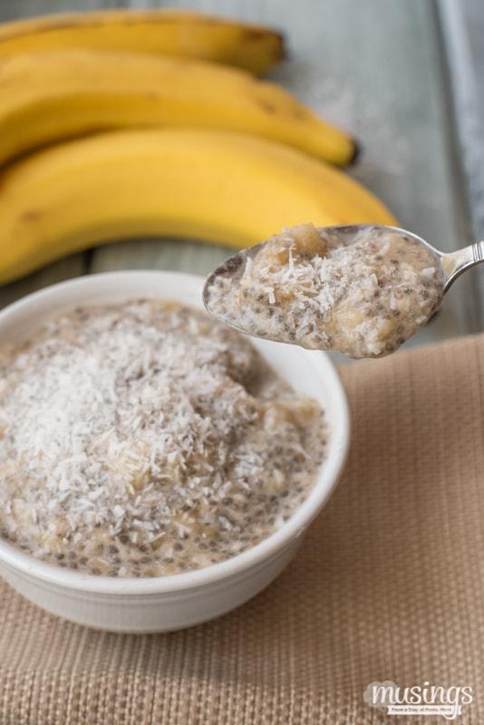 Coconut Banana Chia Seed Pudding