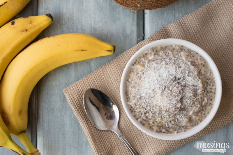 Coconut Banana Chia Seed Pudding