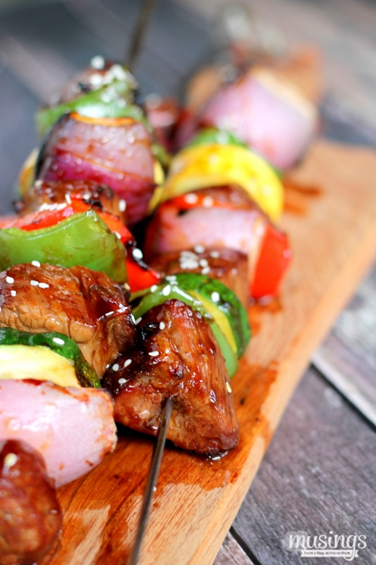Ginger Sesame Steak Kabobs - Living Well Mom