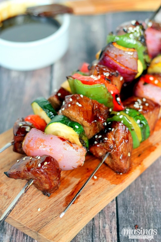 Ginger Sesame Steak Kabobs - Musings From a Stay At Home Mom