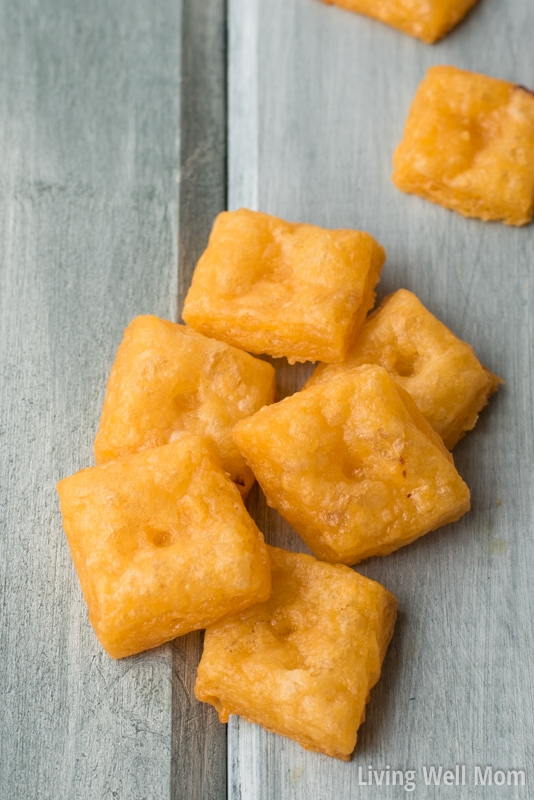 Need a healthier snack idea for the kids? This recipe for Homemade Cheese Crackers is surprisingly easy to make with just 6 ingredients and a favorite healthy snack with kids! Plus, there's a good amount of protein so they'll stay full longer.