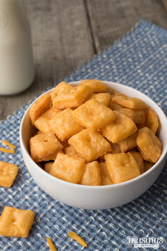 Homemade Cheese Crackers - Musings From a Stay At Home Mom