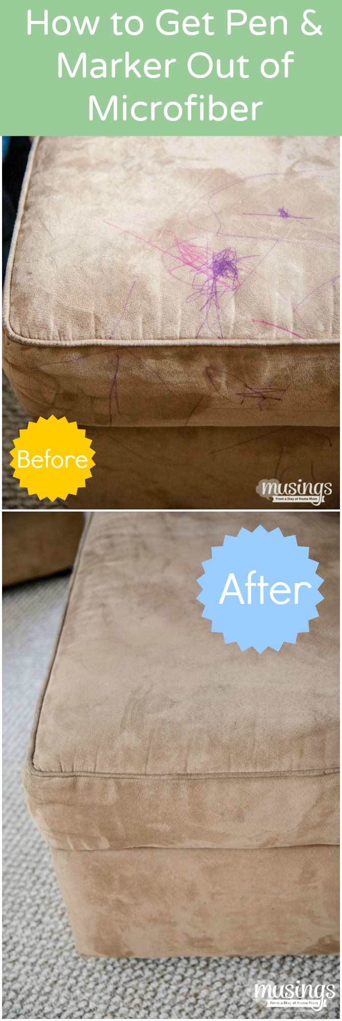 How To Clean A Microfiber Couch Plus How To Remove Pen