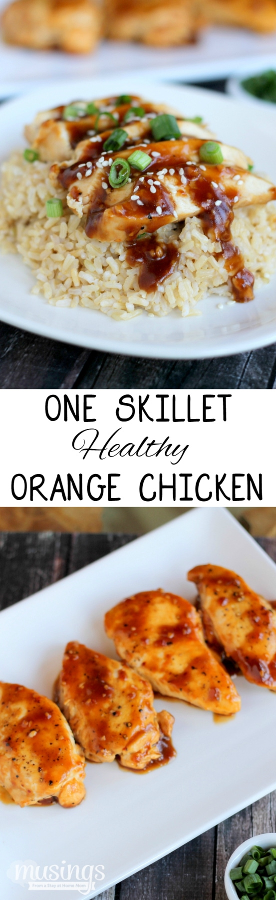 One Skillet Healthy Orange Chicken and Rice