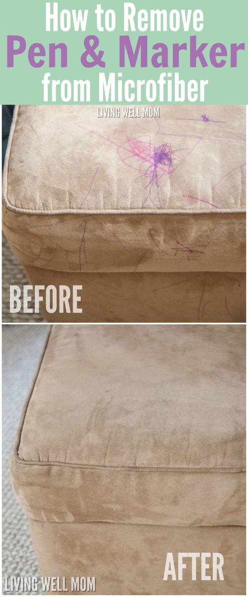 how to clean a microfiber couch and remove pen marker stains