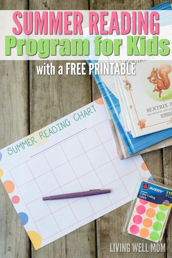 Summer Reading Program for Kids - Free Printable Chart