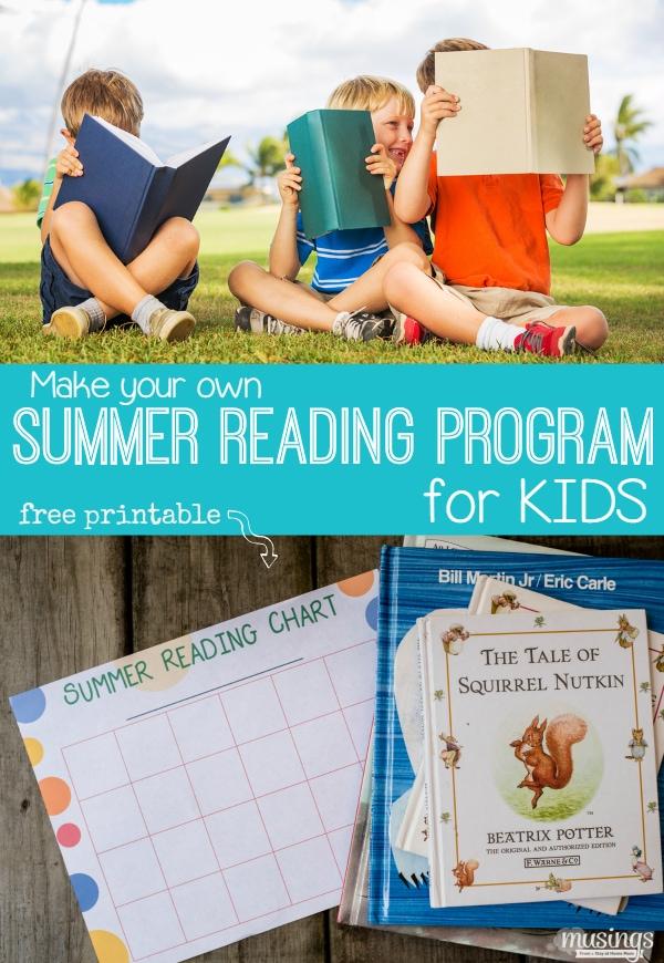 Make Your Own Summer Reading Program For Kids {Free