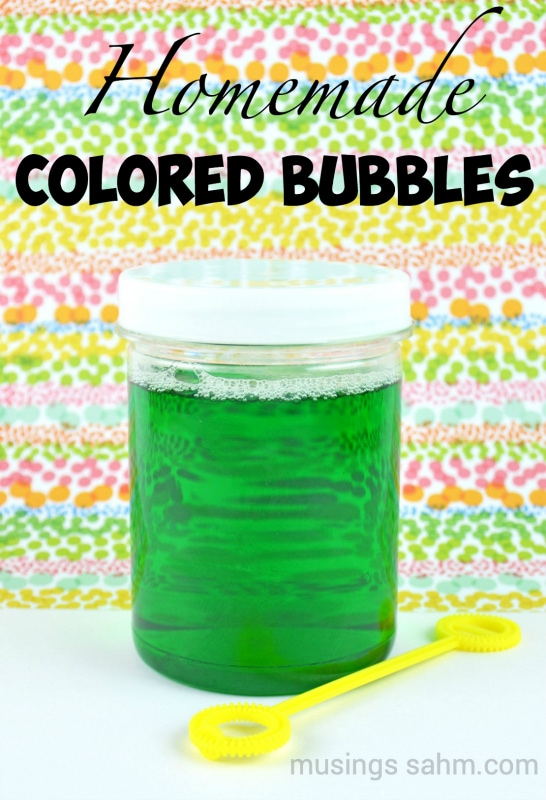 homemade colored bubbles living well mom