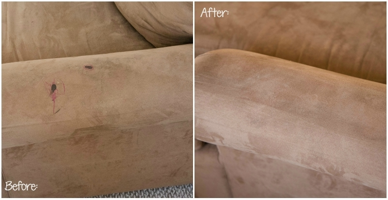 Bon Microfiber Couch Clean Before After