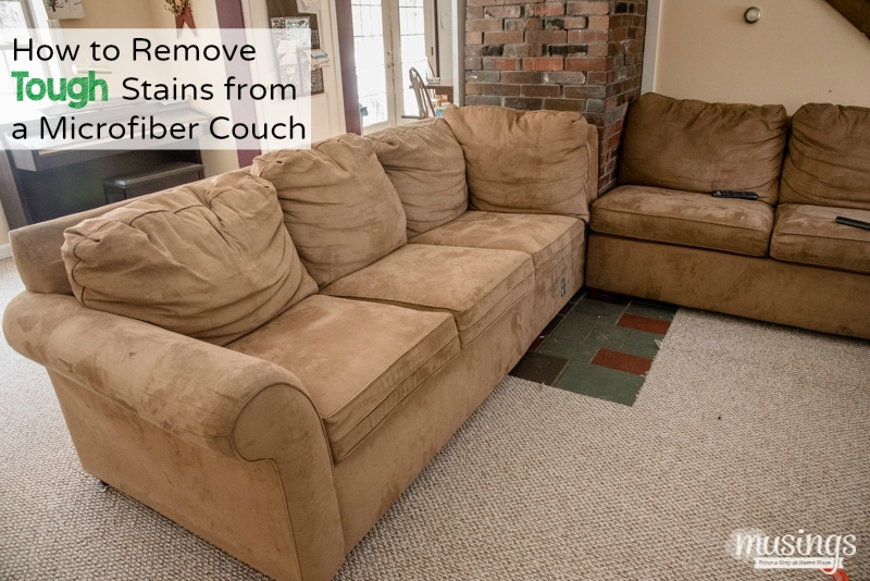 How to Remove Tough Stains from a Microfiber Couch