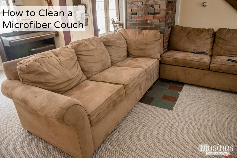 how to clean a microfiber couch plus how to remove pen marker living well mom. Black Bedroom Furniture Sets. Home Design Ideas