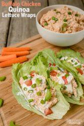 Buffalo Chicken Quinoa Lettuce Wraps