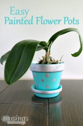 Easy Painted Flower Pots