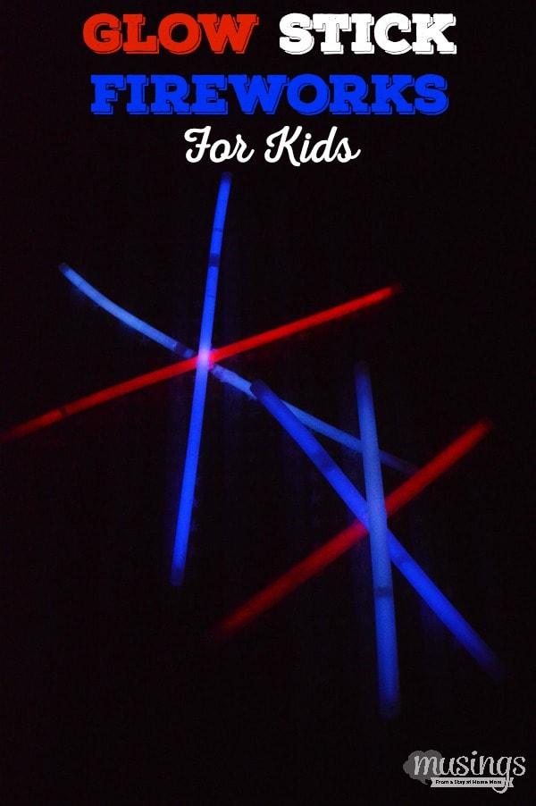 These inexpensive, easy-to-make Glow Stick Fireworks for Kids are perfectly safe and a great way for kids of any age to enjoy the 4th of July. They also make great party favors, are perfect for nighttime games, and you can even take them camping!