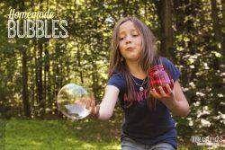 Homemade Bubbles + DIY Bubble Wands