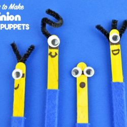 How to Make Minion Stick Puppets