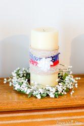 DIY Patriotic Candles