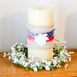 DIY Patriotic Candles