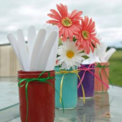 Painted Summer Mason Jars