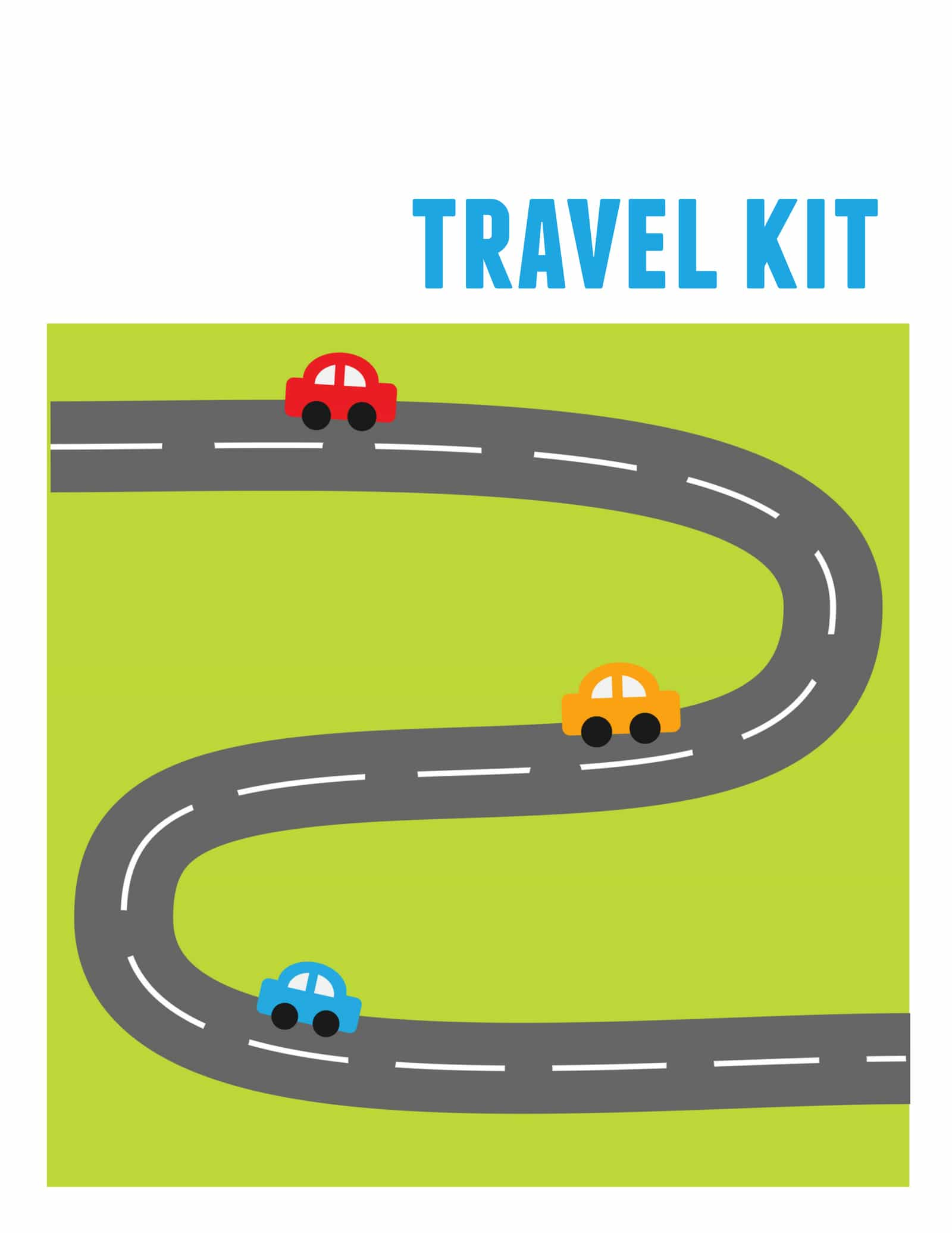 Free Printable Kids Travel Kit template - How to make a simple Kids Travel Kit Binder that will keep them busy and happy with fun activities for long road trips. Includes an attached marker and holder, plus 150+ free printable kids travel activities!