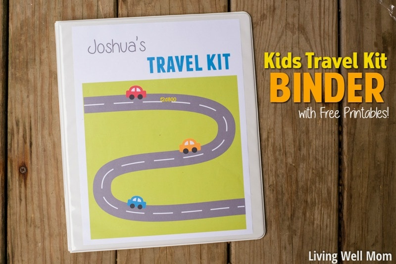 kids travel binder with printables