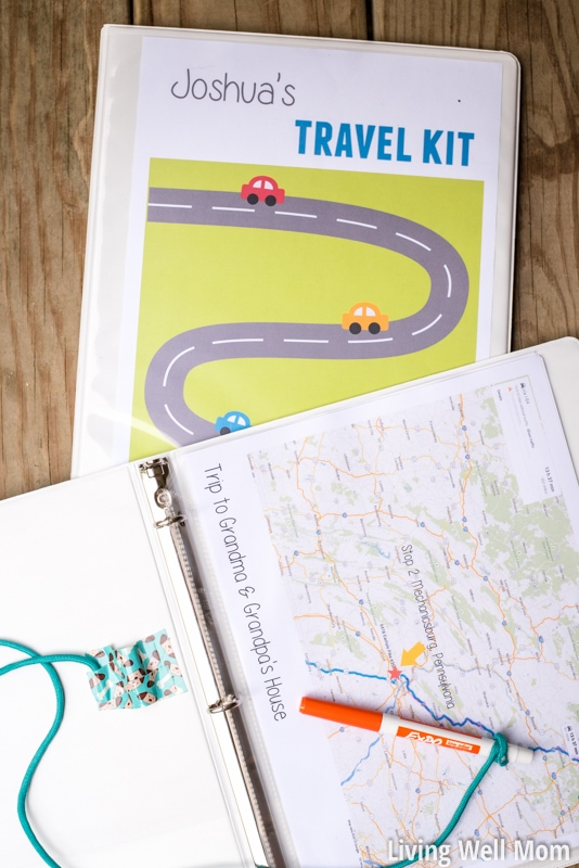 free road trip printables with easy DIY binder idea