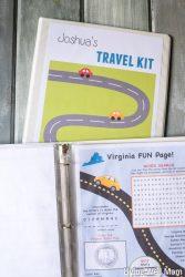 Kids' Travel Kit Binder + Over 150 Free Printable Activities
