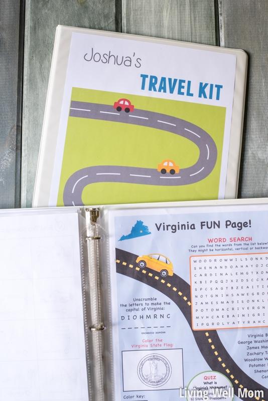 free printable road trip games travel binder