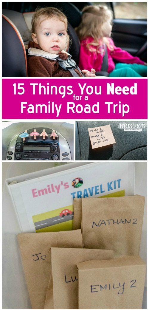 Heading out for vacation this summer? Here's 15 things you NEED for a family road trip! {From a mom who's traveled 800+ miles with her four kids!)