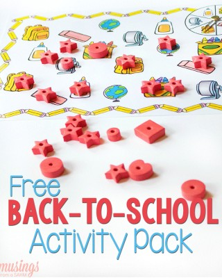 back to school activity pack with red star and shape erasers