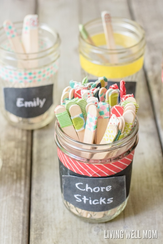 chore sticks  the simple diy chore system for kids that